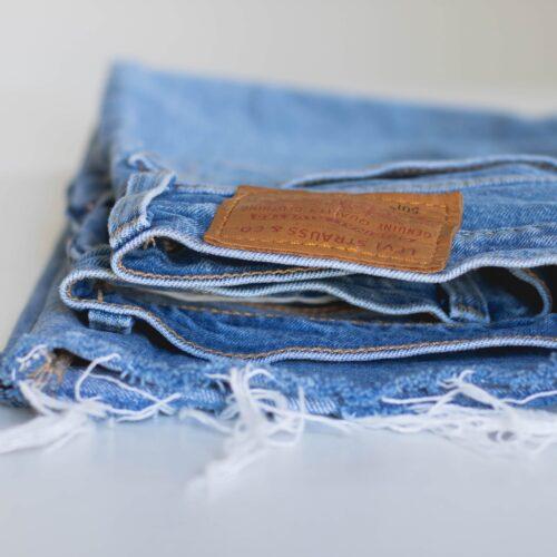 jeansowe spodnie rybaczki